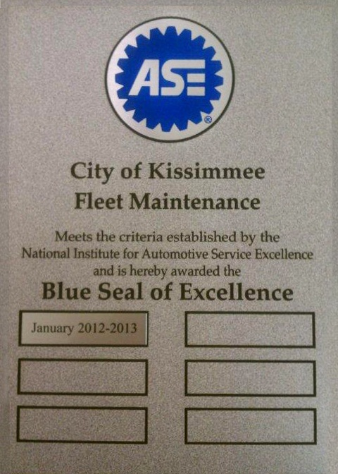 Blue Seal Award