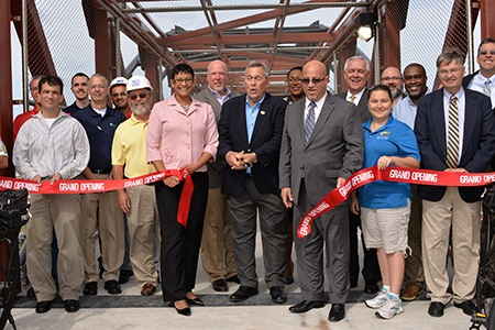 Trail Bridge Ribbon Cutting