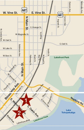 city of kissimmee fl downtown map