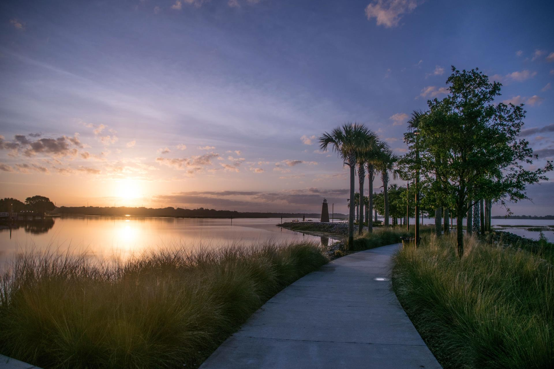 Kissimmee Lake, Lighthouse, Florida Sunset