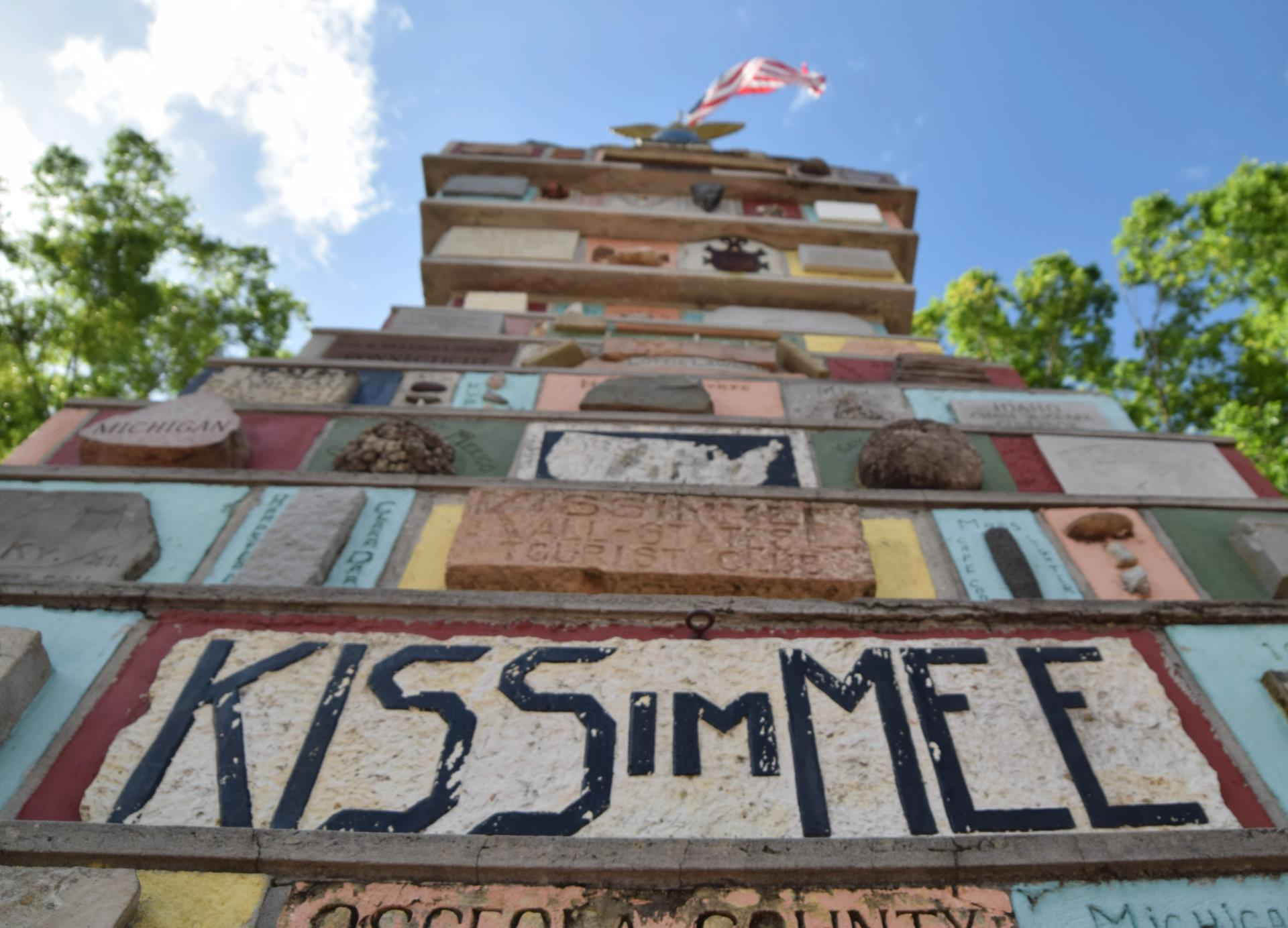 Kissimmee Monument of States in Kissimmee Lakefront Park