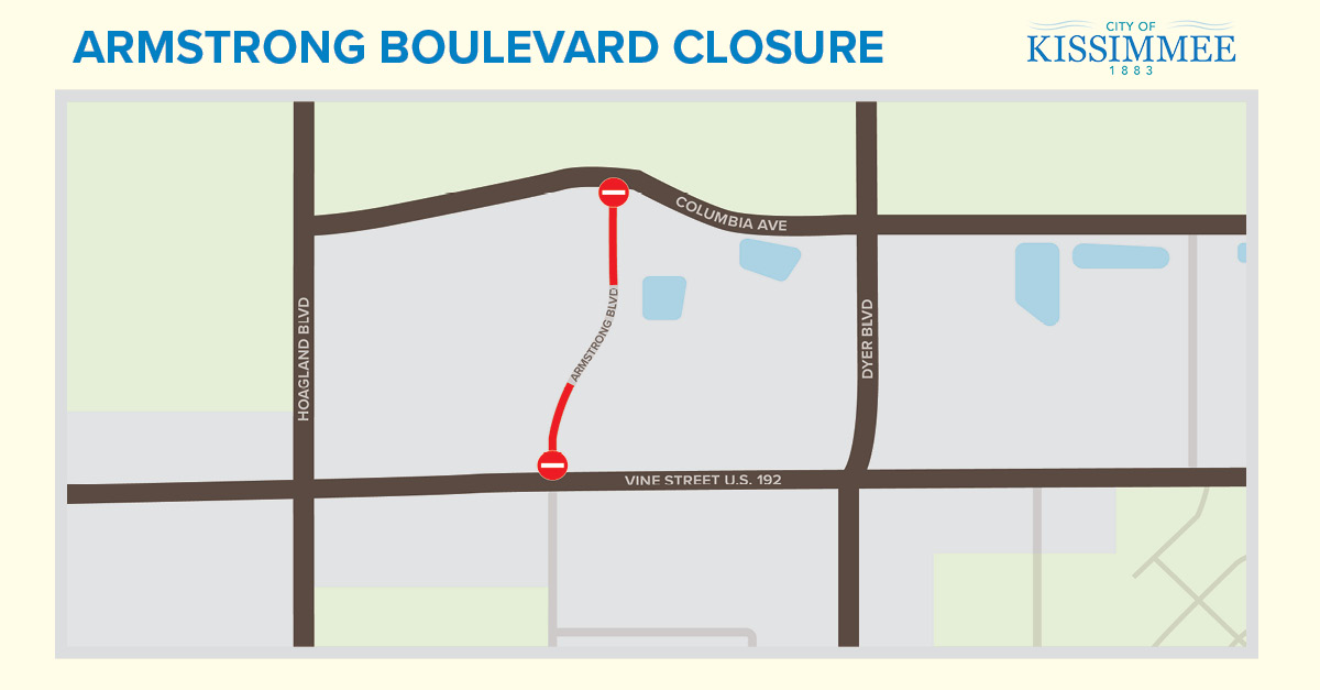 NR 18-022  MAP Portion of Armstrong Boulevard Closed for Repairs