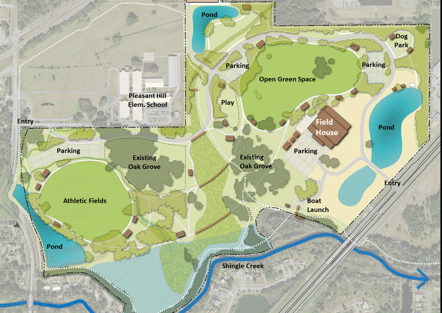 Lancaster Ranch Renderings City of Kissimmee park project