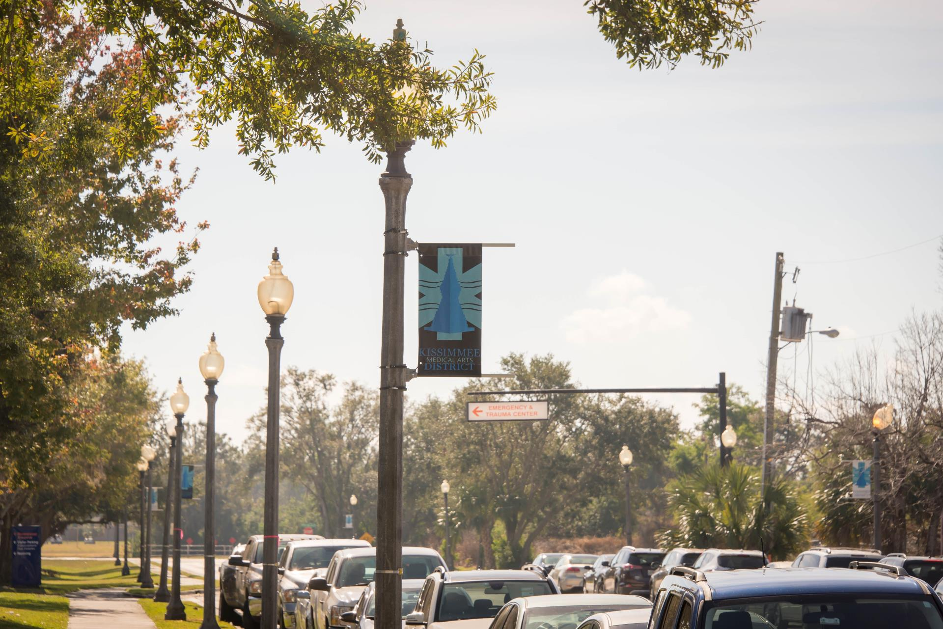 Kissimmee Medical Arts District Banners near Osceola Regional Medical Center