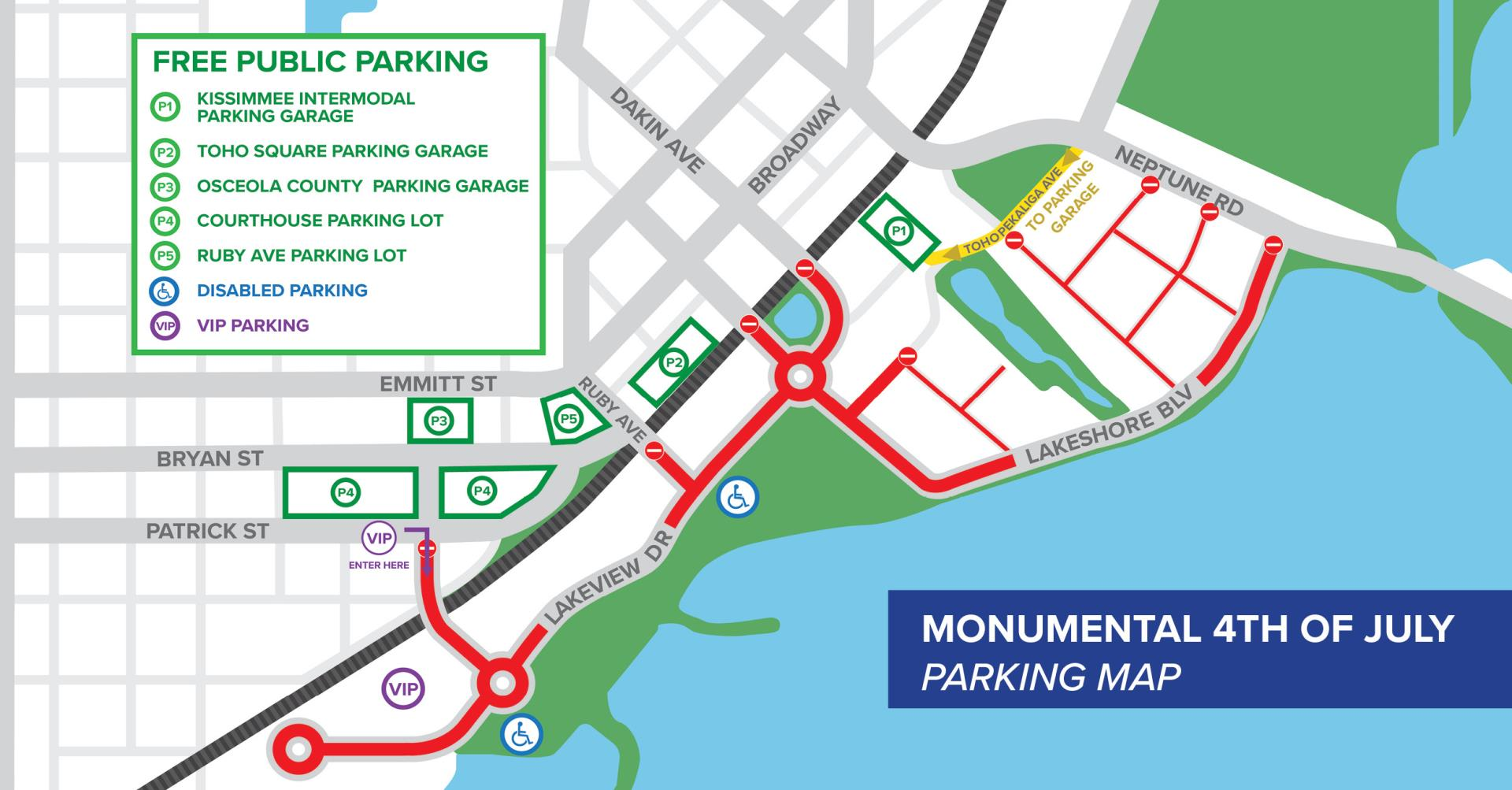18_07_04 Monumental 4th of July Parking Map