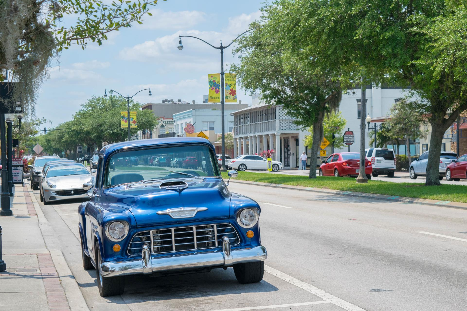 Antique Blue Truck downtown Kissimmee