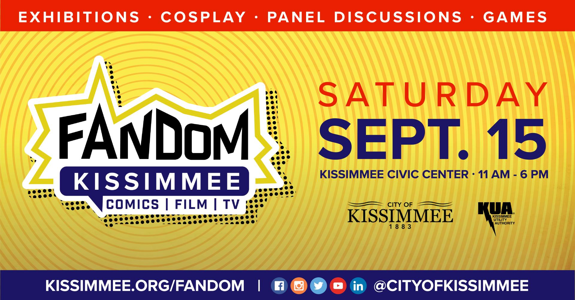 Fandom Kissimmee event flyer City of Kissimmee