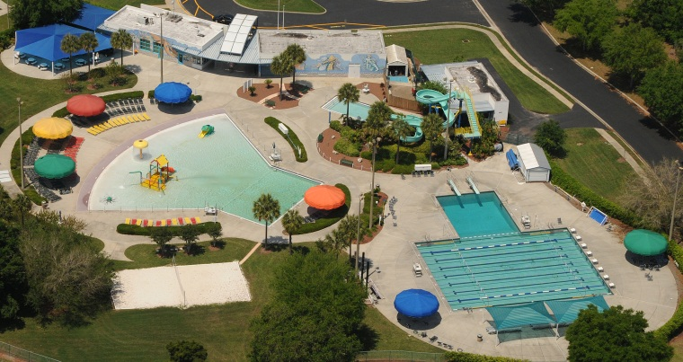 Aquatic Center aerial