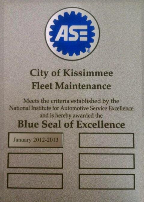 Blue Seal Award