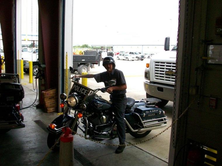 Fleet Maintenance staff on Kissimmee Police Department Bike