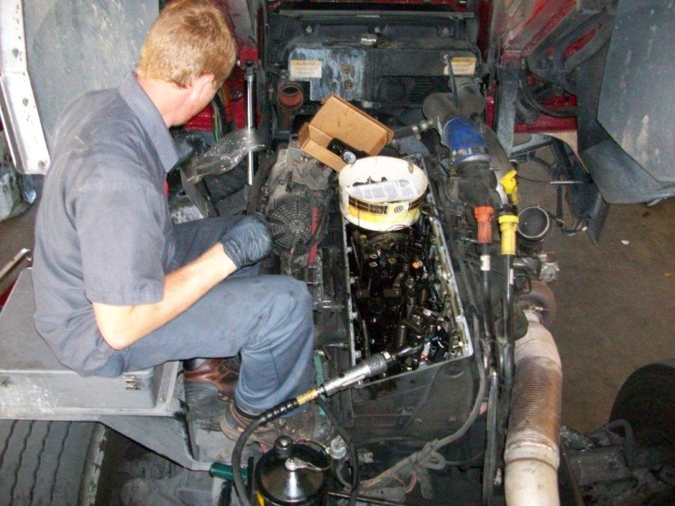 Engine Diagnosis at Central Services