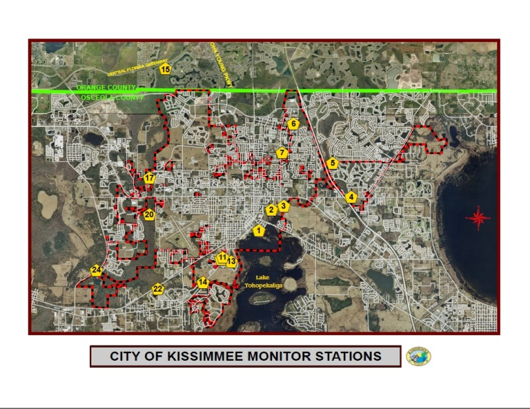 Kissimmee Florida Map.Flood Threat Information City Of Kissimmee Fl