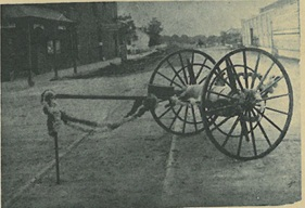 Hand Pulled Fire Hose Wagon