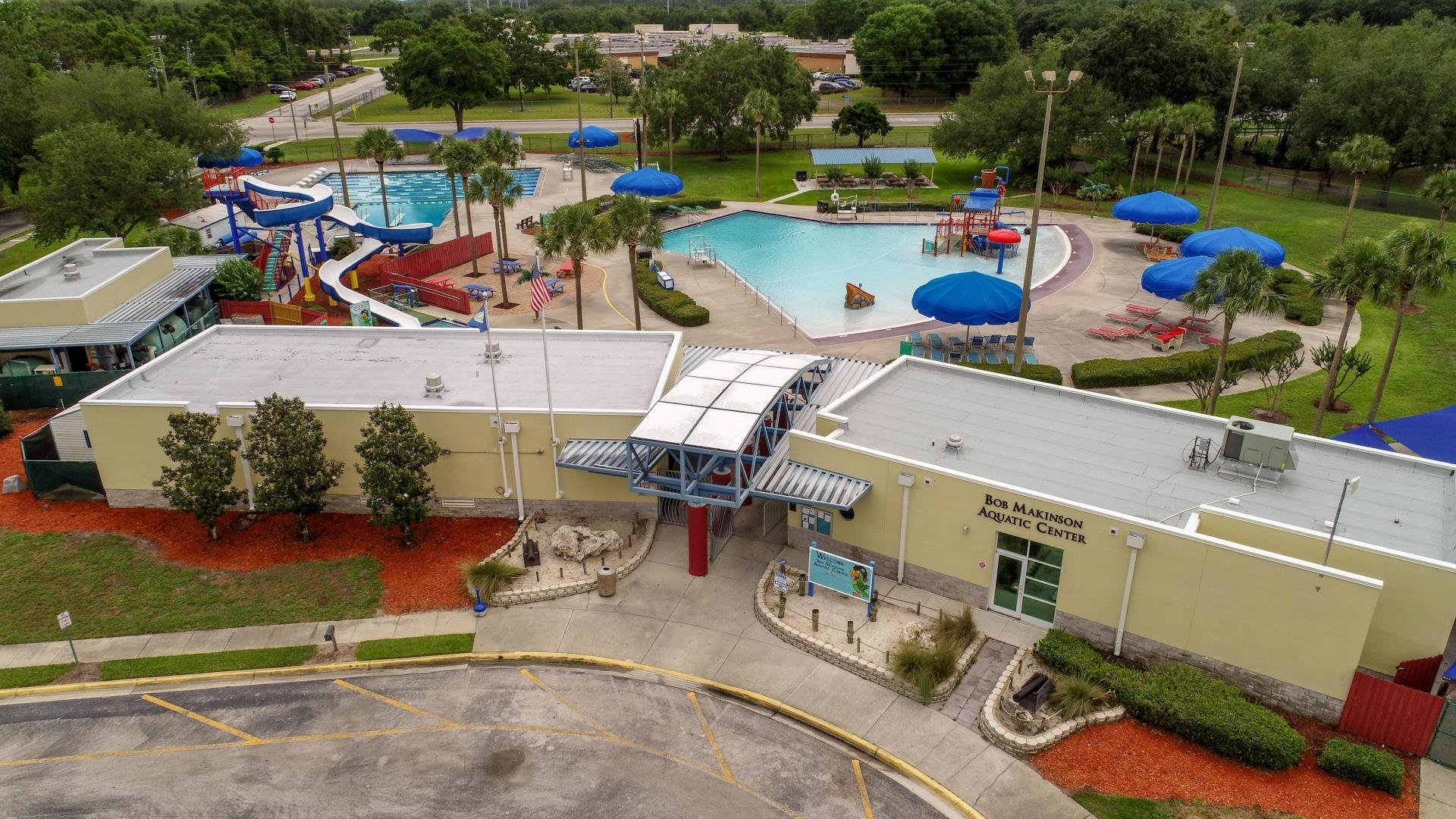 Bob Makinson Aquatic Center City of Kissimmee front