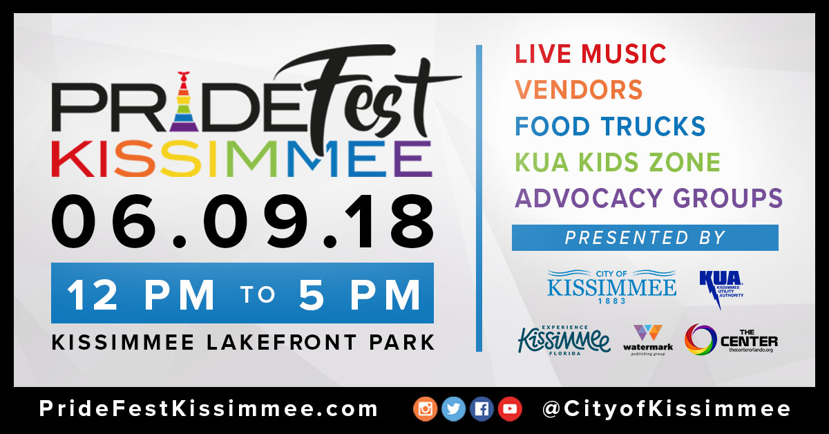Pridefest kissimmee City of Kissimmee event