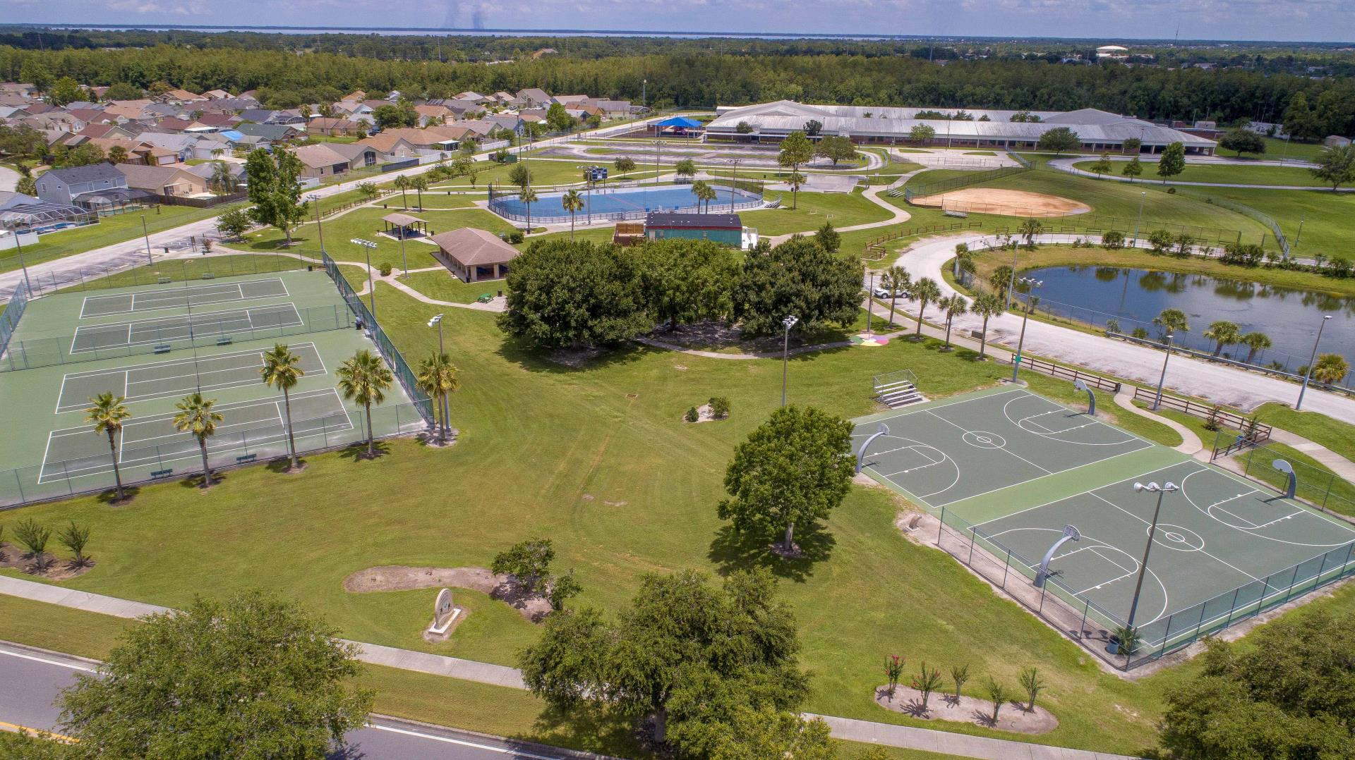Mark Durbin Park- Drone Tennis Courts