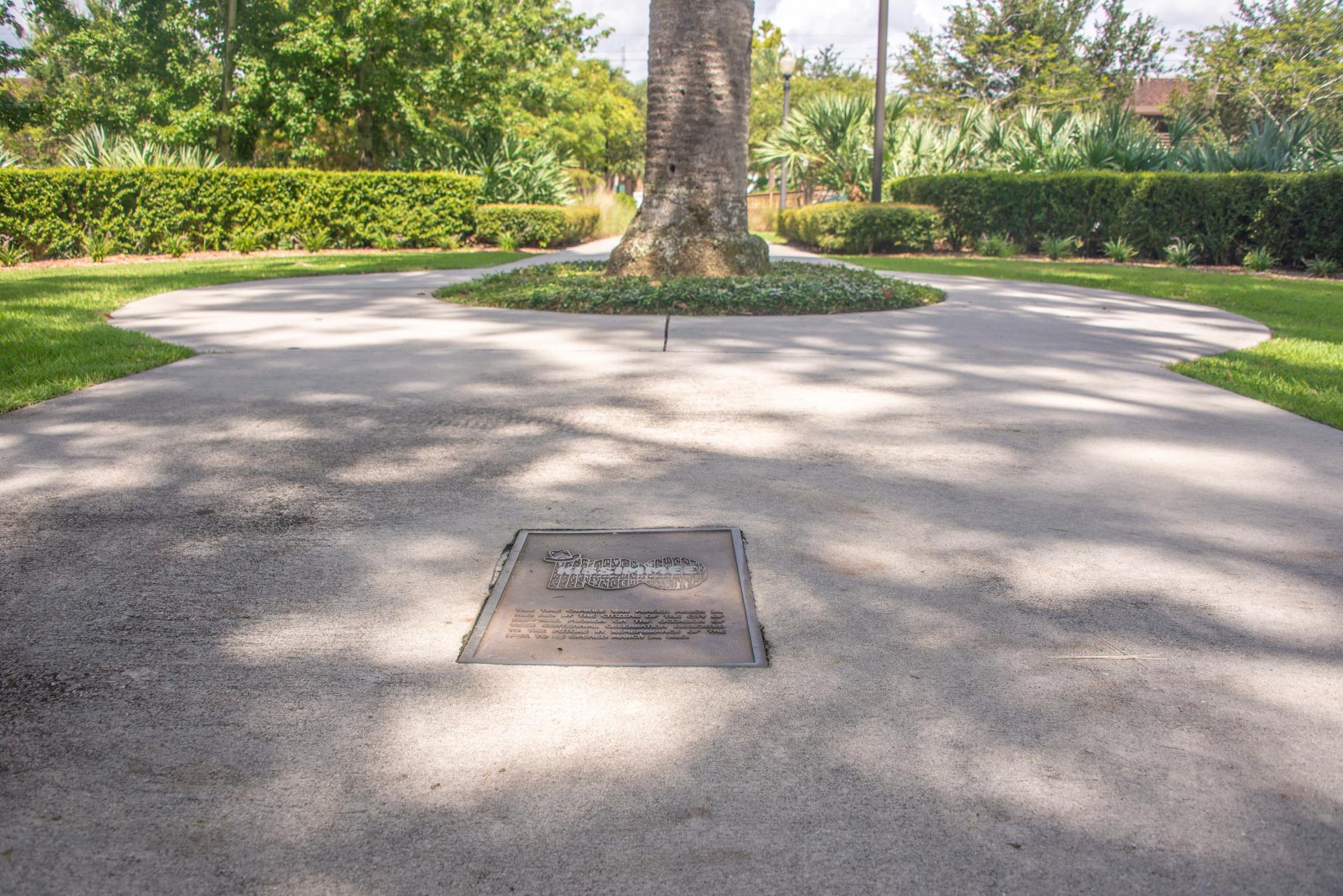 Time capsule and tree Kissimmee Lakefront Park