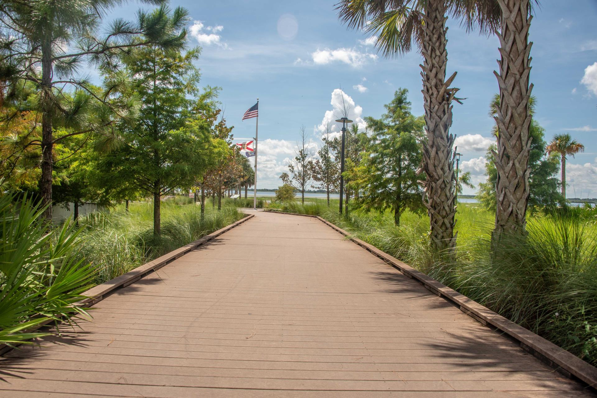 Boardwalk Rain Gardens Kissimmee Lakefront Park