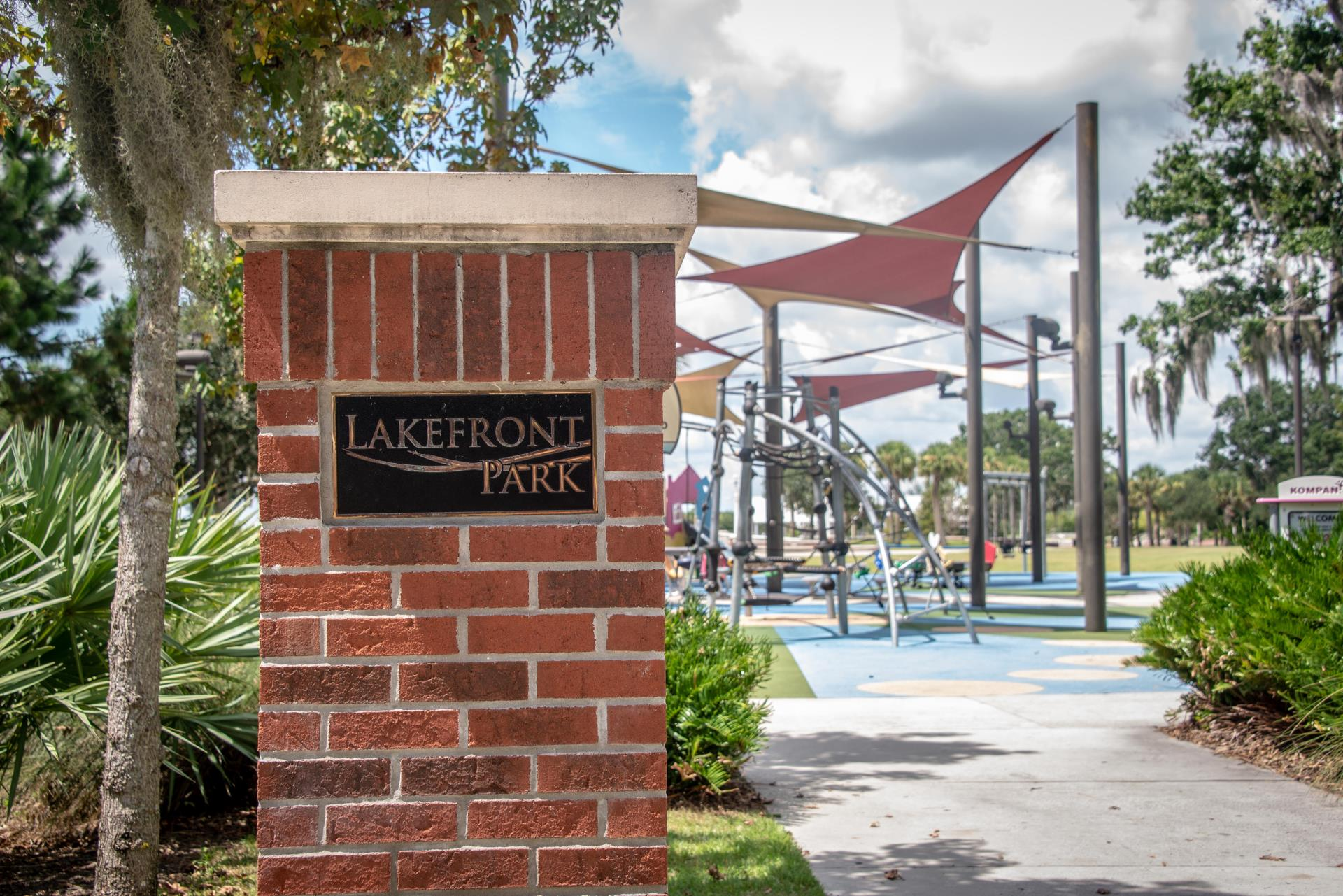 Lakefront Park Entrance Playground Kissimmee Lakefront Park
