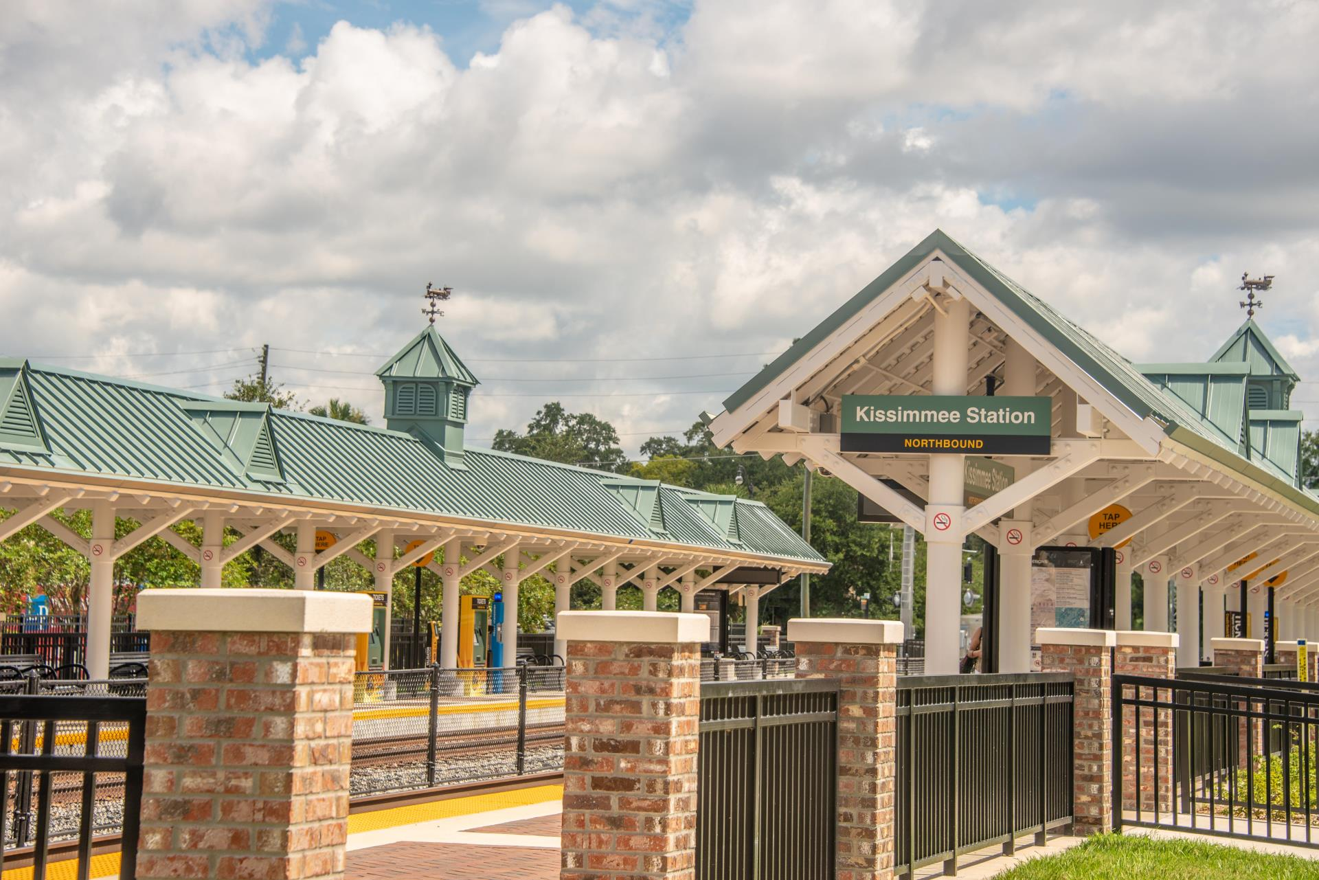 SunRail Station brick entrance kissimmee downtown