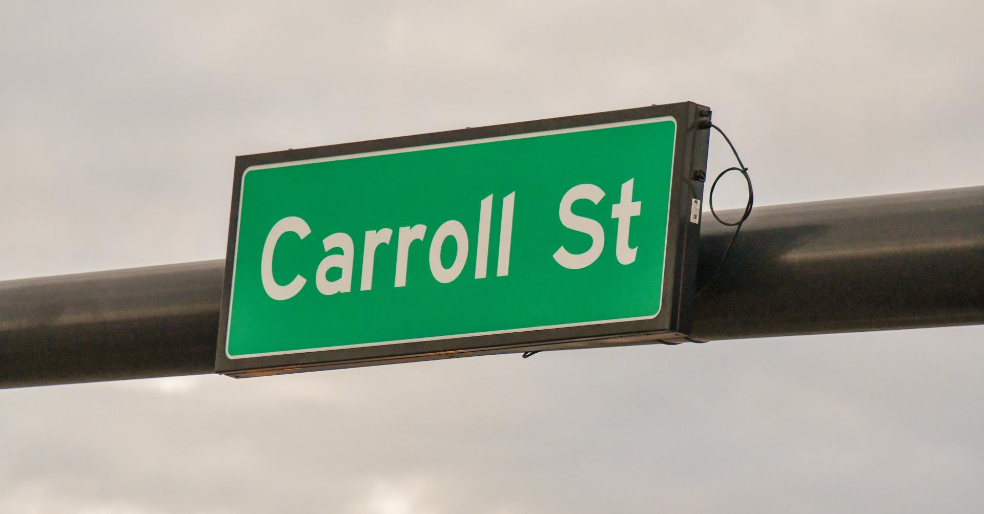 Carroll Street Sign