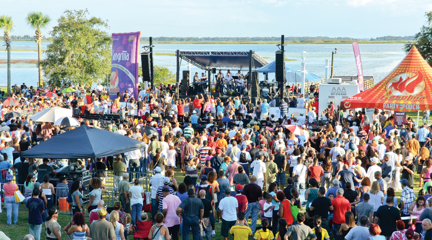 This is a photo of a crowd attending Viva Osceola at Kissimmee Lakefront Park