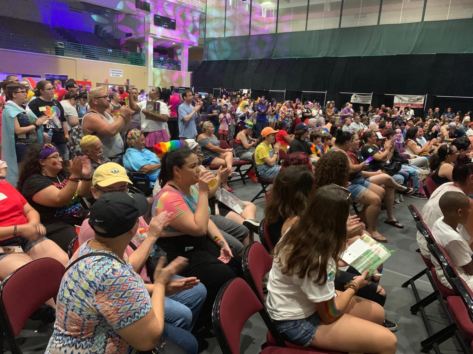 This is a photo of the crowd of attendees at Pridefest Kissimmee at the Kissimmee Civic Center