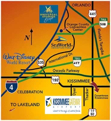 Kissimmee Florida Map.Airport Location Map City Of Kissimmee Fl